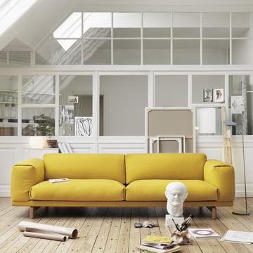 Muuto - Rest Sofa 2-seats, yellow