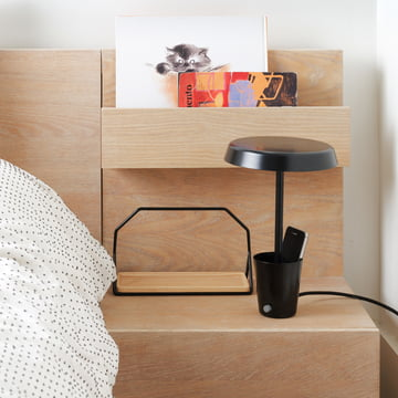 Umbra Cup Lamp Black bedside table