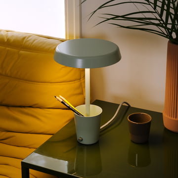Umbra Cup Lamp black in living room