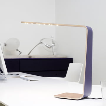 Led 4 table lamp adds color to the daily work routine.