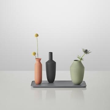 Muuto - Balance Vase (3 Vasen-Set), Block Colour with flowers