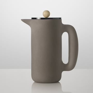Muuto - Push Coffee Maker, stone grey, woodknob