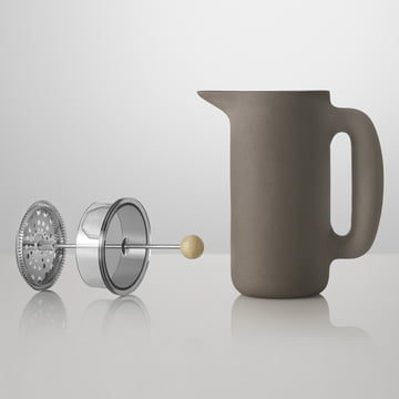 Muuto - Push Coffee Maker, stone grey, without plunger
