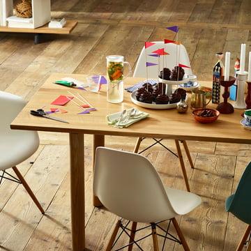 Vitra - Wood Table, natural Oak, set table