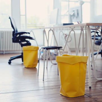 Roll-up bins in the office