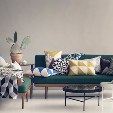 Striped Cushion and Herringbone Cushion by ferm Living