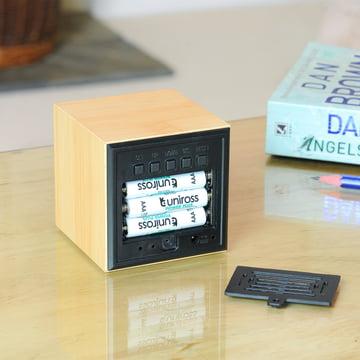 Gingko - Cube, LED violet, battery