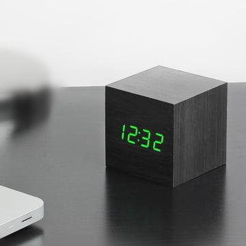 Gingko - Cube, black / LED green