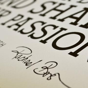 Holstee - Poster White Manifesto