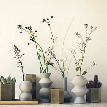 Hexagon Vase and Flowerpot by ferm Living