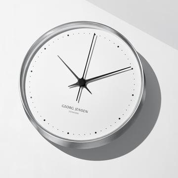 Georg Jensen - Henning Koppel Wall Clock Ø 30 cm, stainless steel / white