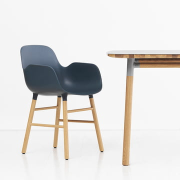 Form armchair by Normann Copenhagen made of oak in blue