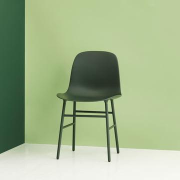 Normann Copenhagen - Form Chair, Steel Legs, green