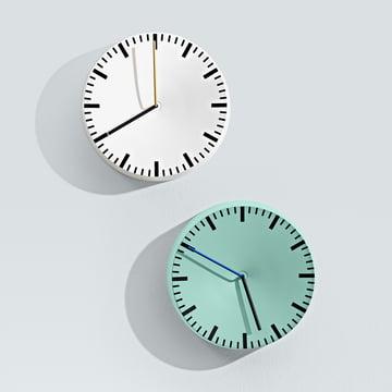 Hay - Analog Clock, mint, white