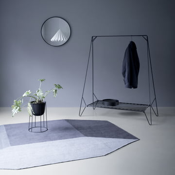 The Willenz Volume Rug by Menu in blue