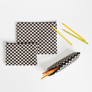Vitra - Zip Pouch, black / white
