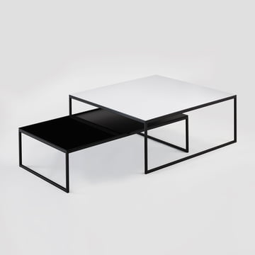 Hans Hansen - Less H 5/2 VA Coffee Table sled-base black / HPL black