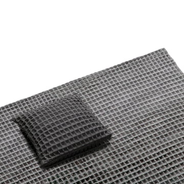 Objekten - Waffle Cushion, dark-grey, Rug, light-grey