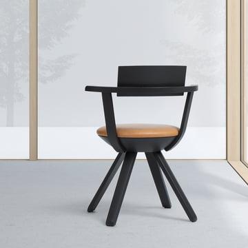 Artek - KG 002 Rival Chair High black, asphalt