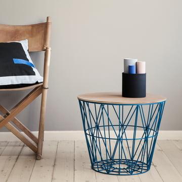 Vase set on side table