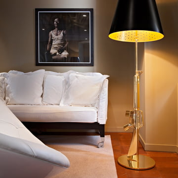 Flos - Lounge Gun Floor Lamp, shiny gold
