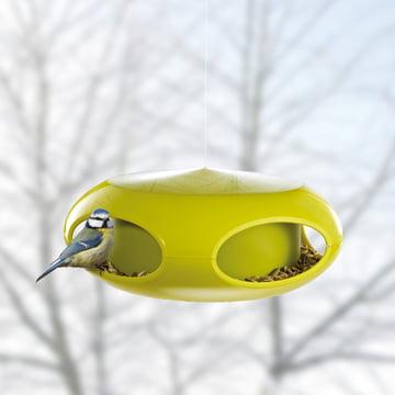 Koziol - [pi:p] Bird Feeder, mustard / olive green