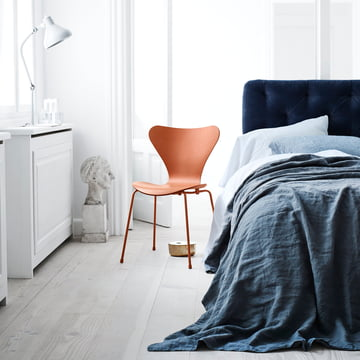 The Fritz Hansen Series 7 Chair, Chevalier orange