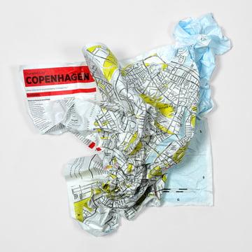 Palomar - Crumpled City Map - Copenhagen