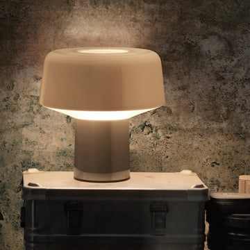 Diesel Living - Glass Drop Table Lamp, chrome, switched on