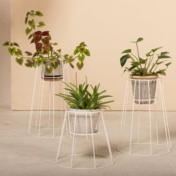 OK Design - Cibele Flowerpot Holder, white