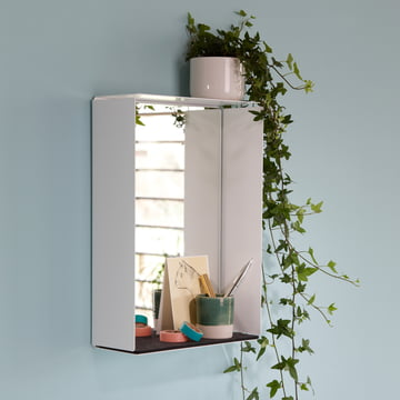The wall mirror by Konstantin Slawinski is a mirror and a tray at a time