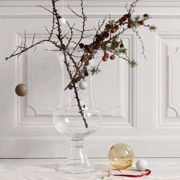 Holmegaard - Old English floor vase with Christmas decoration
