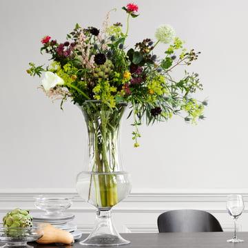 Holmegaard - Old English flower vase with big bouquet