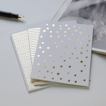Golden greeting cards for Christmas & weddings