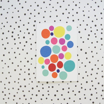 Colorful dots to give as a gift