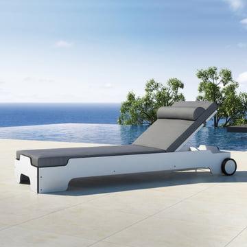 Solara Sun Lounger with cushion by Rolf Heide