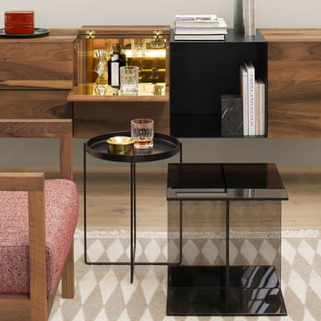 The CM05 Habibi Side Table in black by e15