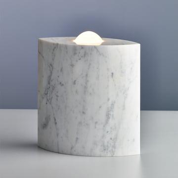 Egyptian Eye Floor Lamp by Tecnolumen in white polished