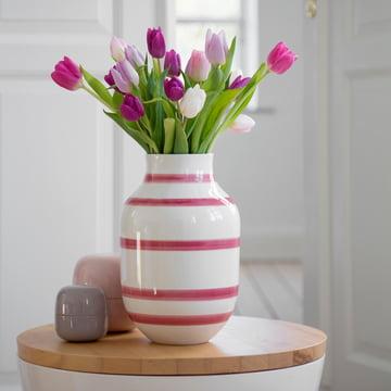 Ceramic vase for tulips