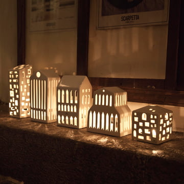 Votive candle houses in various sizes