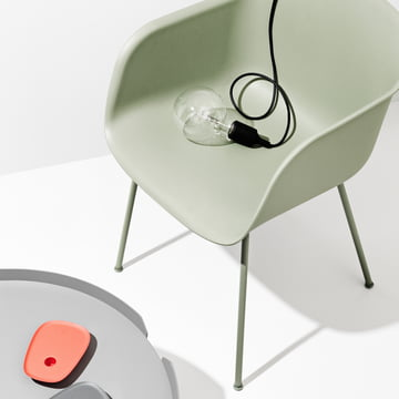 Muuto - Fiber Chair - Tube Base, dusty green