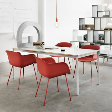Muuto - Fiber Chair - Tube Base, red