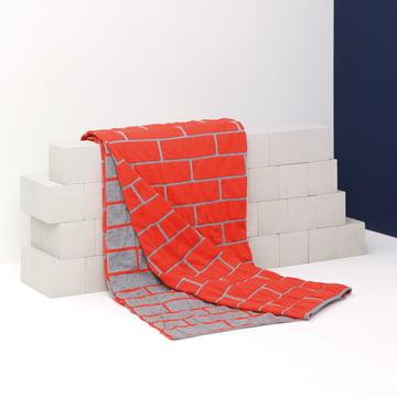 Pulpo - brick blanket, spicy red / light grey