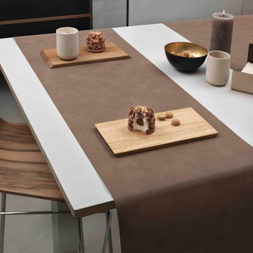 Table Runner by LindDNA in Nupo brown