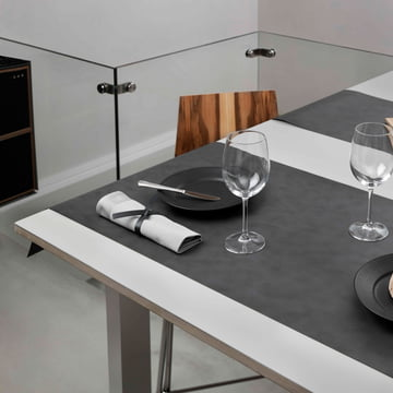 Table Runner by LindDNA in Nupo anthracite