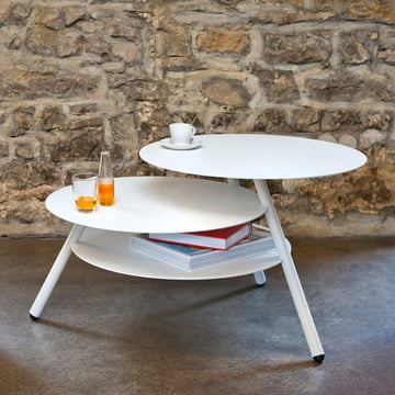 Big Trio Side Table by Pulpo in white