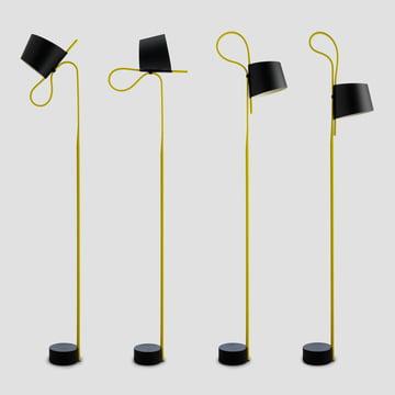 wrong.London - rope trick floor lamp, Black / Yellow