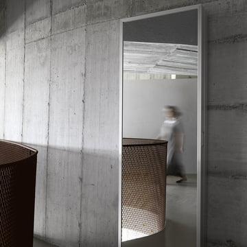 Mirror wardrobe to be hanged