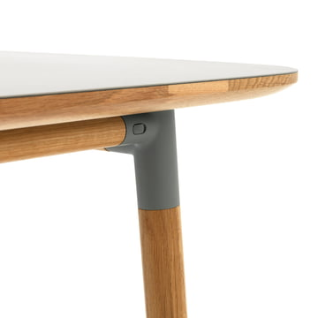 Form table by Normann Copenhagen made of oak in grey
