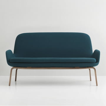 Era Sofa by Normann Copenhagen made from walnut in Fame Hybrid turquoise